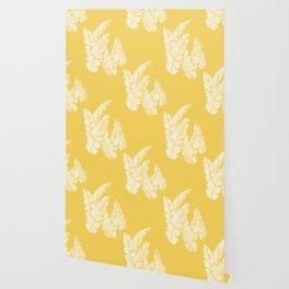 Banana Leaves on Yellow #society6 #decor #buyart Wallpaper