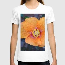 Orange hibiscus T-shirt