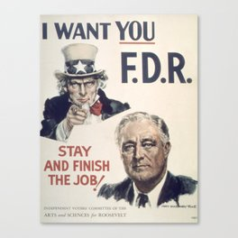 Vintage poster - I Want You FDR Canvas Print