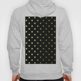 Gold polka dots on black pattern Hoody