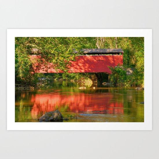 Foxcatcher Covered Bridge Art Print