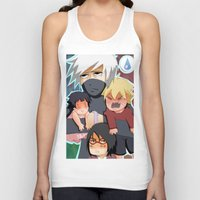 kakashi Tank Tops featuring The babysitter by Momo Aiko