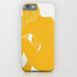 Nude in yellow summer iPhone Case