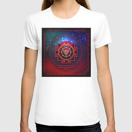 Kali Yantra with the Great Fifteen-Syllable Mantra T-shirt