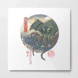 Cthulhu Ukiyo-e Metal Print