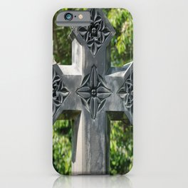 Gothic Style Christian Cross Headstone Old Holy Trinity Church in Wentworth  iPhone Case