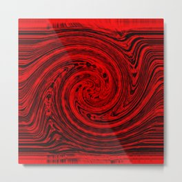 Hurricane wind in red and black Metal Print