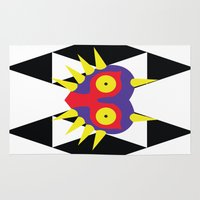 majora Area & Throw Rugs featuring Minimalist Majora by Bradley Bailey
