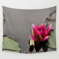 lotus flower Wall Tapestries featuring Lotus by Stevyn Llewellyn