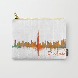 Dubai, emirates, City Cityscape Skyline watercolor art v2 Carry-All Pouch