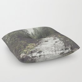Mountain creek - Landscape and Nature Photography Floor Pillow