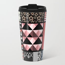 Favorite blanket and pillows . Patchwork 1 Travel Mug