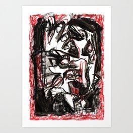 Emotions - b&w Art Print