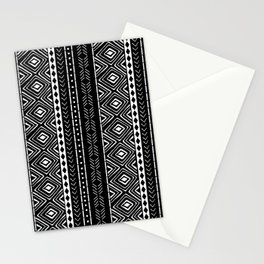 Black Mudcloth Stationery Cards
