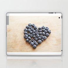 Blueberry Heart Laptop & iPad Skin