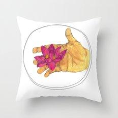 Lotus Palm Throw Pillow