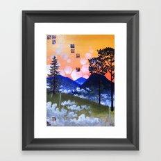 Blue Ridge Sunset Framed Art Print
