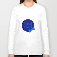lord of the rings Long Sleeve T-shirts featuring Time Lord of the Rings by Michelle Dadoun