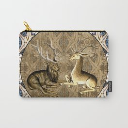 Tudor Pattern Book Harts Carry-All Pouch