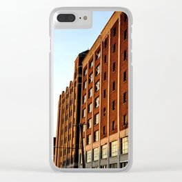 BRICK BUILDING IN THE AFTERNOON SUN - DETROIT Clear iPhone Case