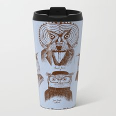 A History of Western Philosophy. With Owls. Metal Travel Mug