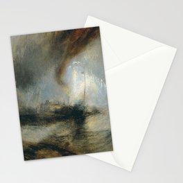 """Tempête de neige en mer """"Snow Storm - Steam-Boat off a Harbour's Mouth"""", William Turner, 1842 Stationery Cards"""