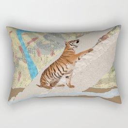 Tiger Cub - Mixed Media Digital art Rectangular Pillow