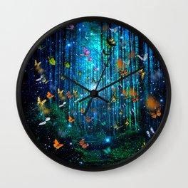 Magical Path Butterflies Wall Clock