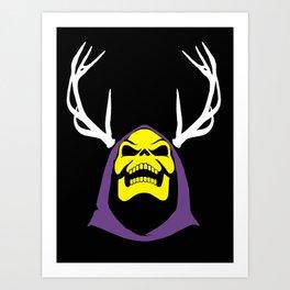 Skeletor Antlers Art Print