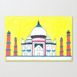 Taj Mahal by Sunil Canvas Print
