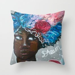 Dream Up Girl Throw Pillow