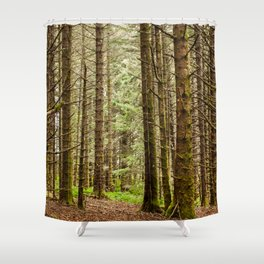 Old Growth Forest Photography Print Shower Curtain