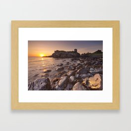 Sunrise at Kinbane Castle in Northern Ireland Framed Art Print