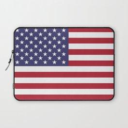 USA flag - Hi Def Authentic color & scale image Laptop Sleeve
