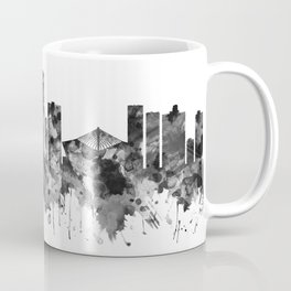 Durban South Africa Skyline BW Coffee Mug