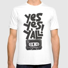 Y'all X-LARGE Mens Fitted Tee White