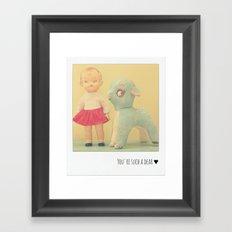 You're Such a Dear ♥ Framed Art Print