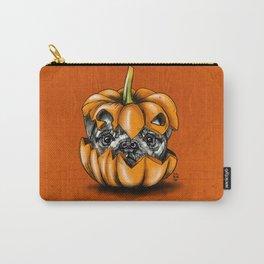 Halloween Pumpkin Pug Carry-All Pouch