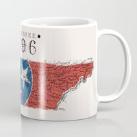 tennessee Mugs featuring Tennessee: 1796 by Chad Madden