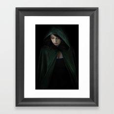 Hooded Woman Framed Art Print