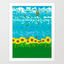 Nature Summer Sunflower Art Print