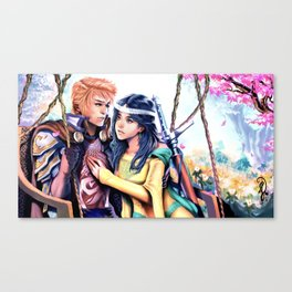 Courtly Love Canvas Print
