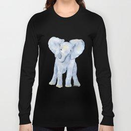 Baby Elephant Watercolor Long Sleeve T-shirt