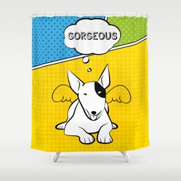 Awesome Bull Terrier Shower Curtain