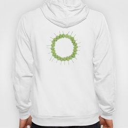 Green Wildflower Circle Hoody
