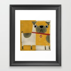 PUG WITH YELLOW Framed Art Print