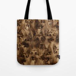 German Shepherd Dog collage Tote Bag