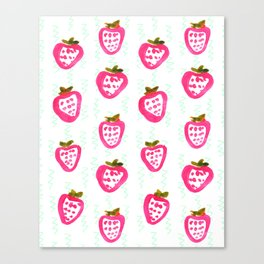 strawberry rain Canvas Print