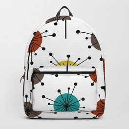 Atomic Era Sputnik Starburst Flowers Backpack