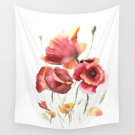 poppies painting Wall Tapestry